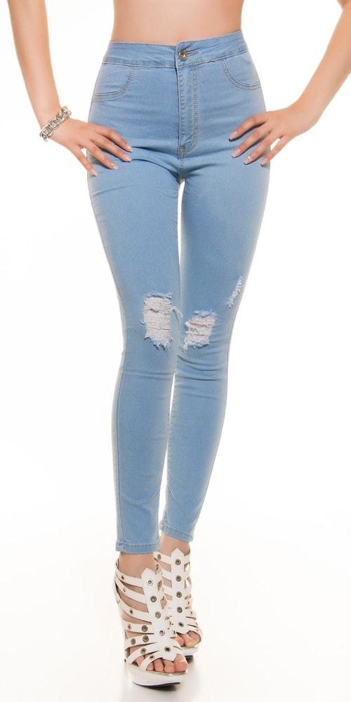 Dámské skinny džíny - vysoký pas