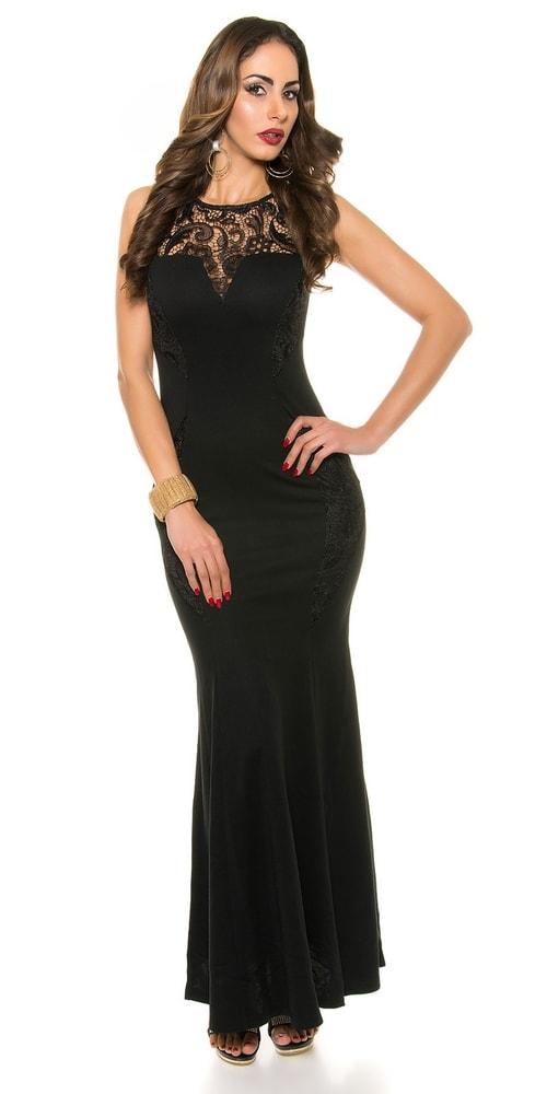 Elegantní dlouhé plesové šaty černé