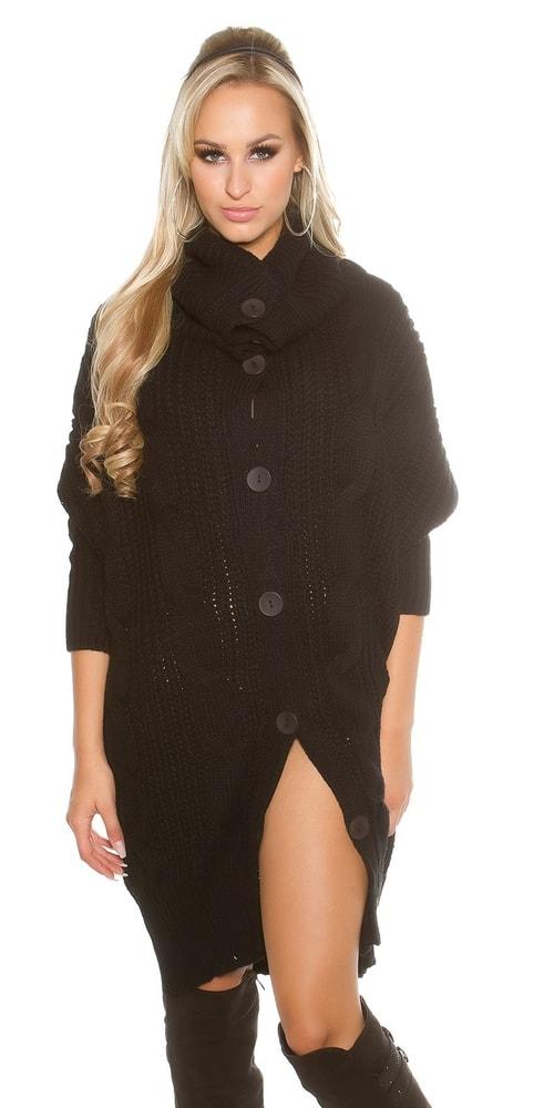 Pletený kabátek s výraznými knoflíky
