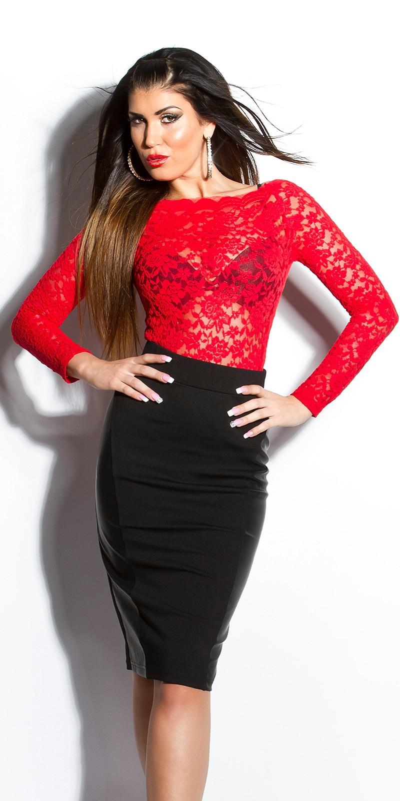 Dámská sukně s vysokým pasem