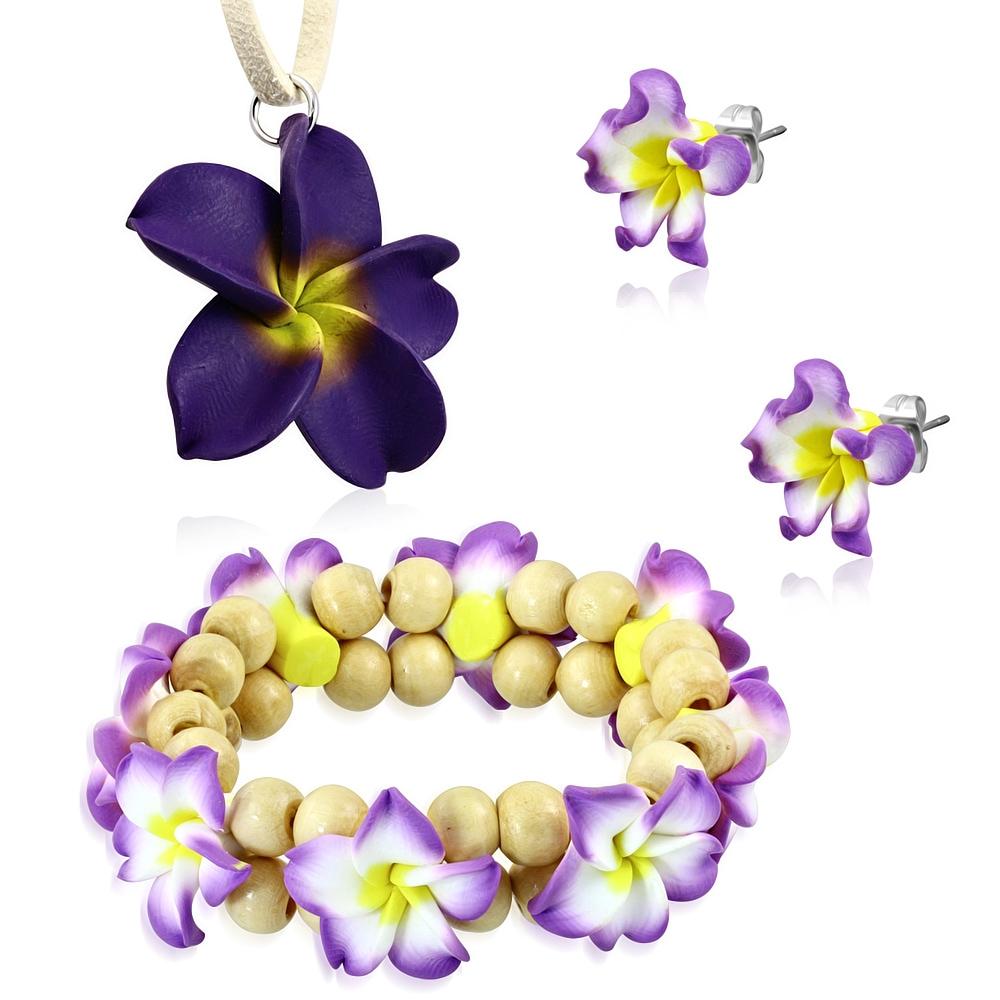 Souprava fimo - květiny