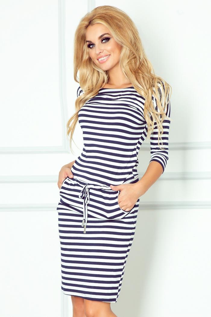 Letní šaty v námořnickém stylu