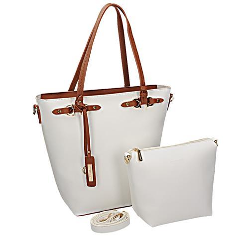 Bílá elegantní kabelka přes rameno