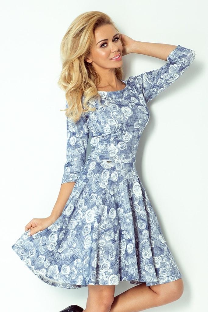 Numoco Dámské květované šaty 105-1