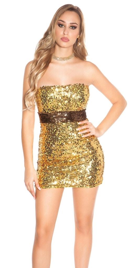 Koucla Flitrové party mini šaty