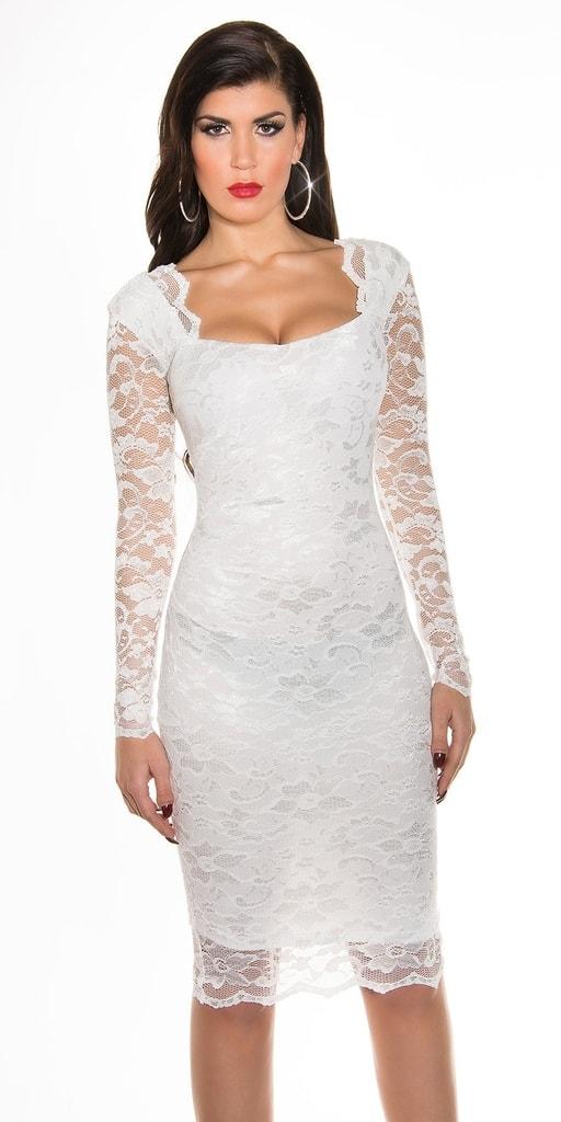 Koucla Dámské večerní šaty - bílé