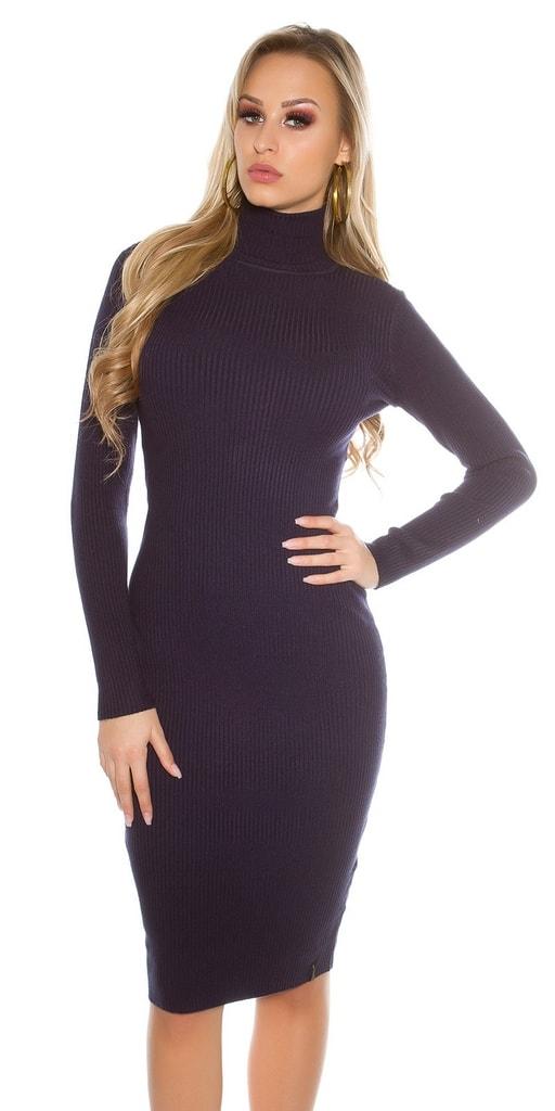 Koucla Delší pletené dámské šaty
