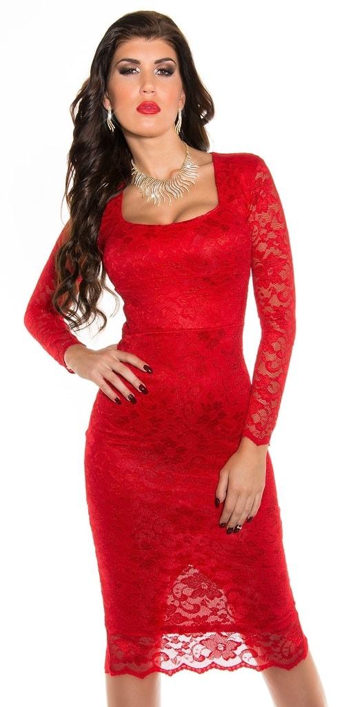 Koucla Červené večerní šaty