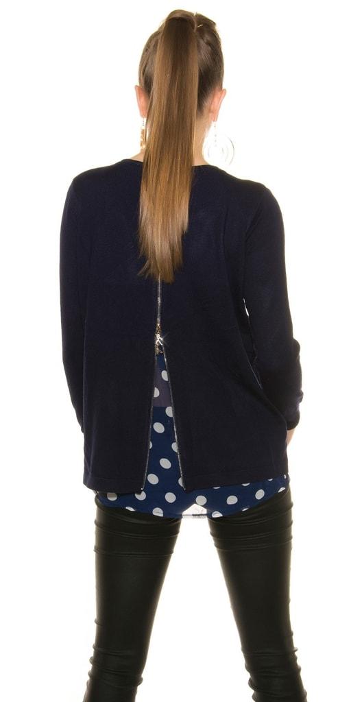 Koucla Modrý dámský svetr
