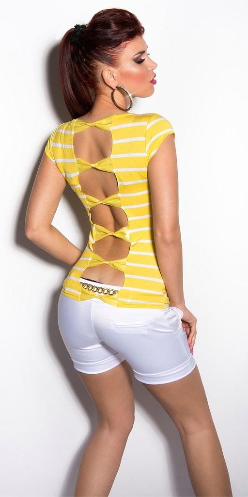 Koucla Žluté letní tričko