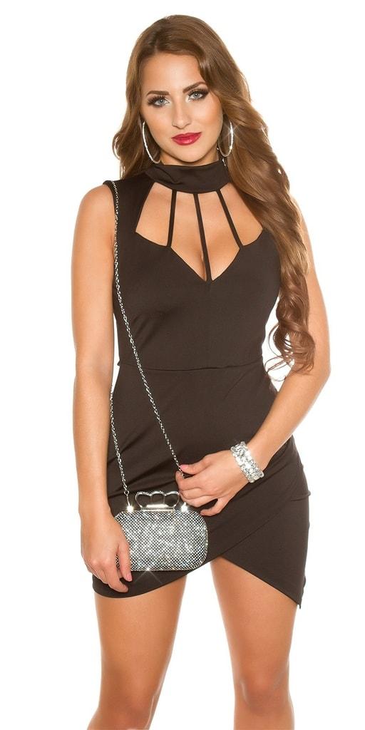 Koucla Černé sexy mini šaty