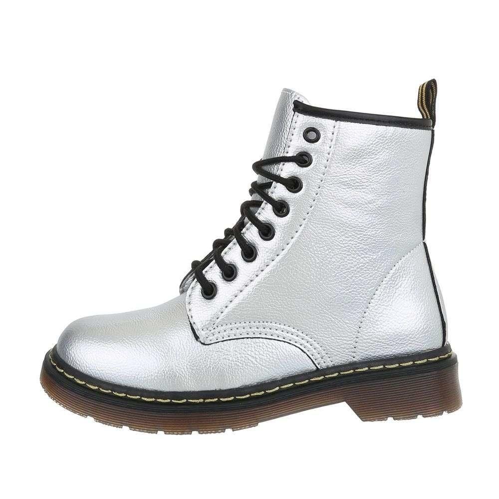 Stribrne boty podpatek 5cm levně  de7bd89417