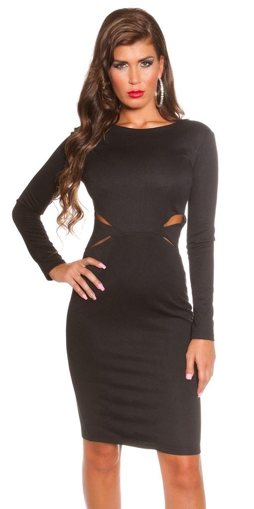 Koucla Černé společenské šaty