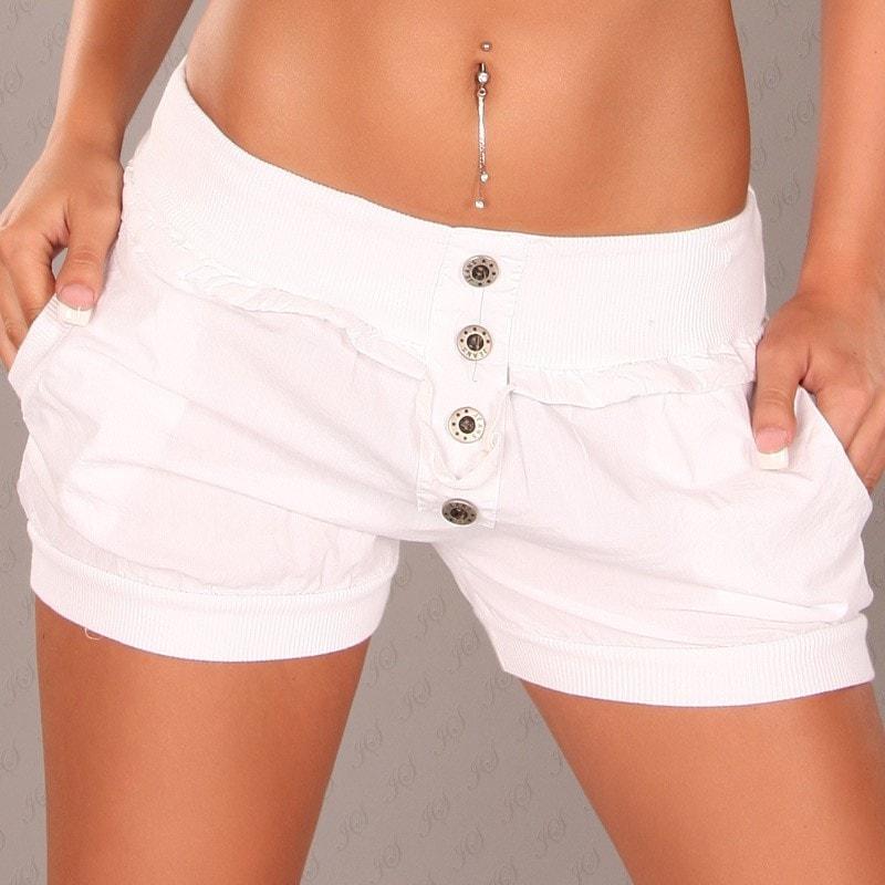 Koucla Bílé šortky dámské