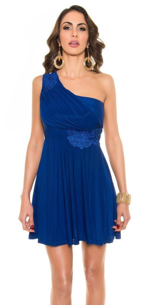 Koucla Krátké modré plesové šaty