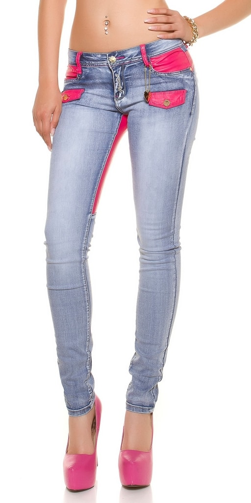 Koucla Dámské moderní džíny