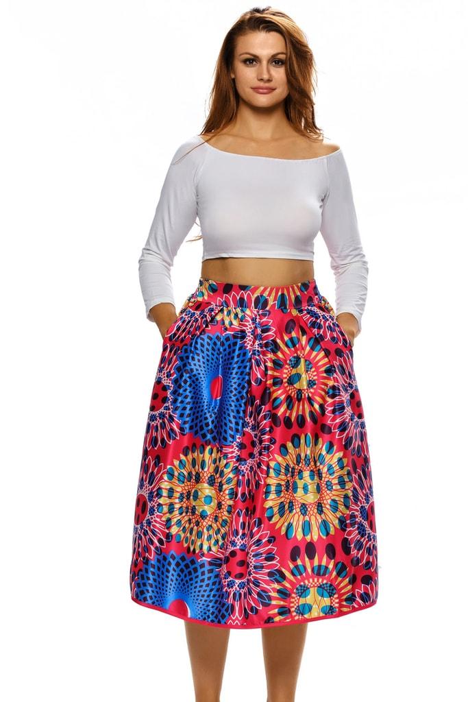 DAMSON Dámská květovaná sukně