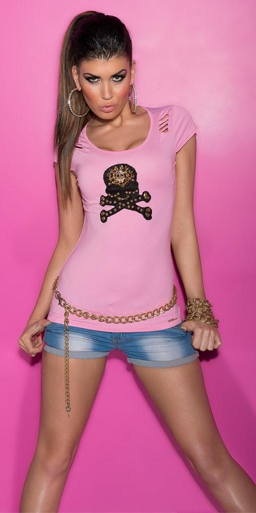 Koucla Trendy tričko s průstřihy