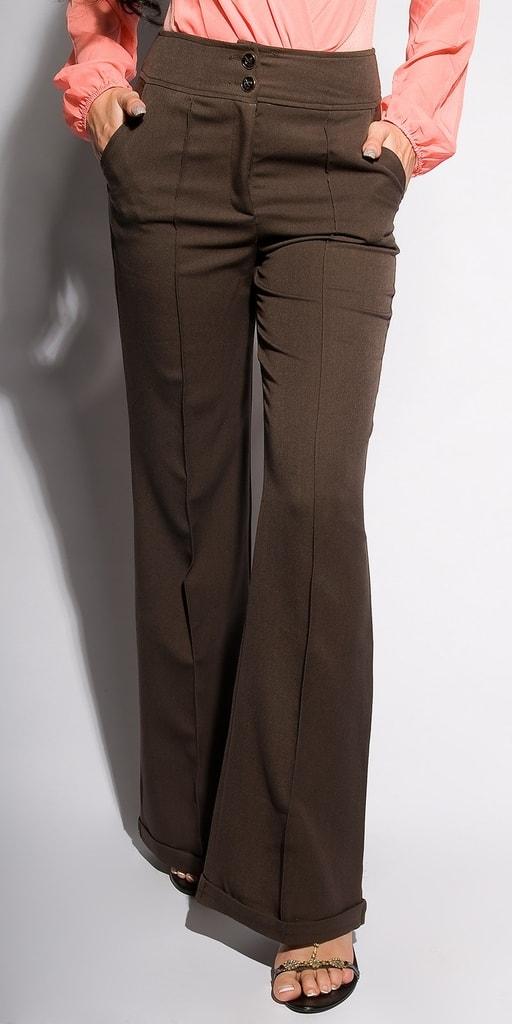 Koucla Dámské kalhoty-hnědé