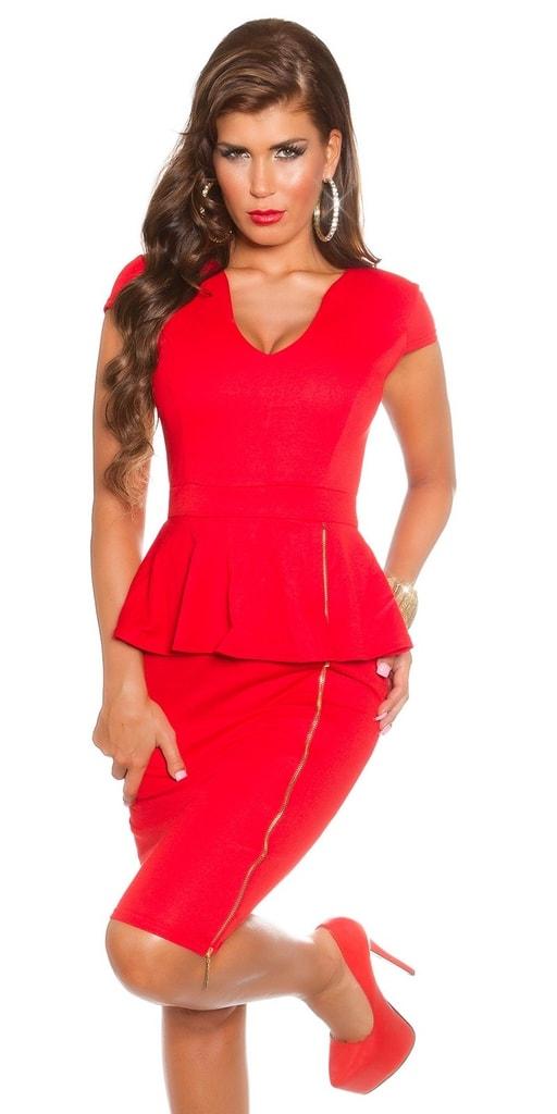 Koucla Červené elegantní šaty