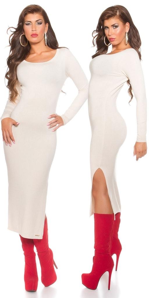 Koucla Úpletové šaty dlouhé
