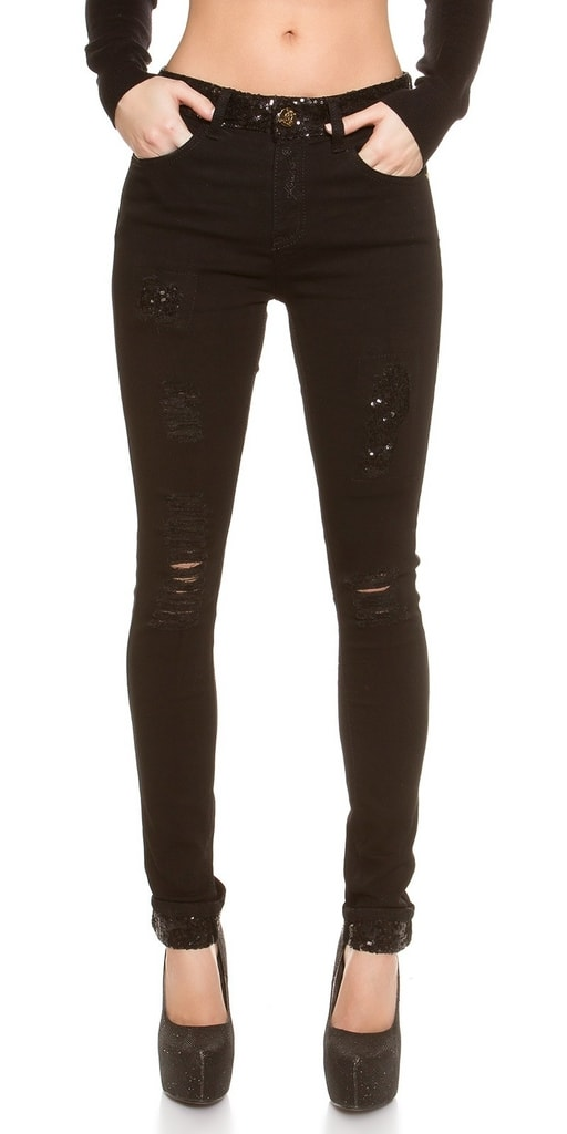 Koucla moderni cerne damske kalhoty  2d9bc0dcfc