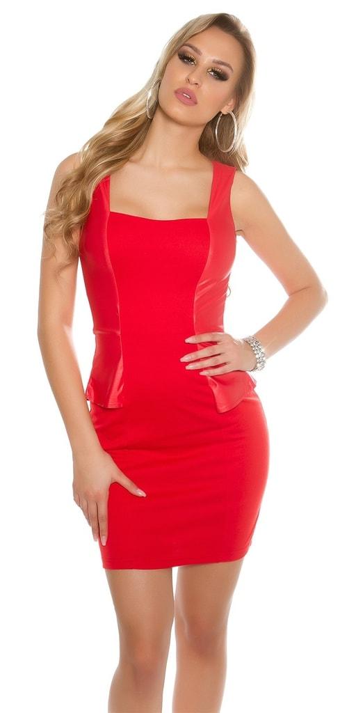 Koucla Dámské červené elegantní šaty
