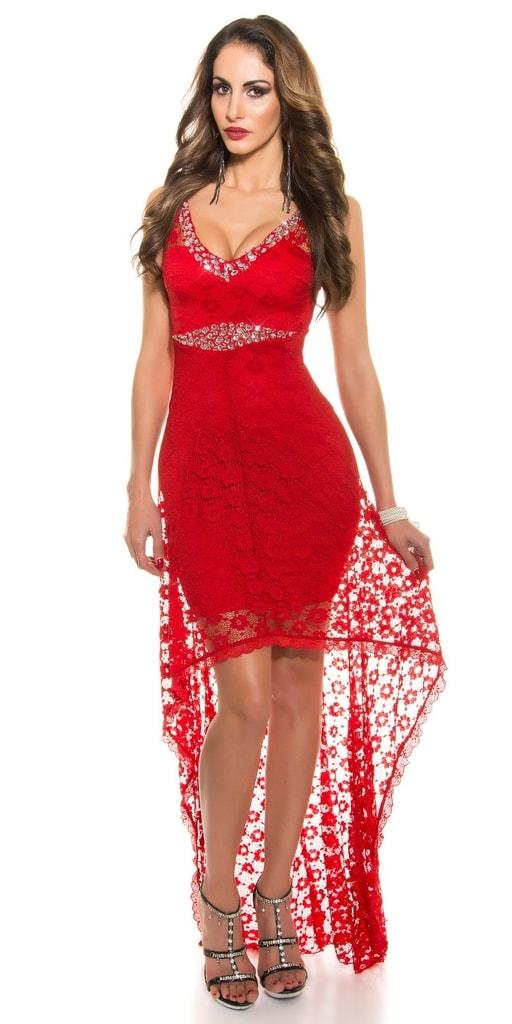 Koucla Koktejlové šaty červené