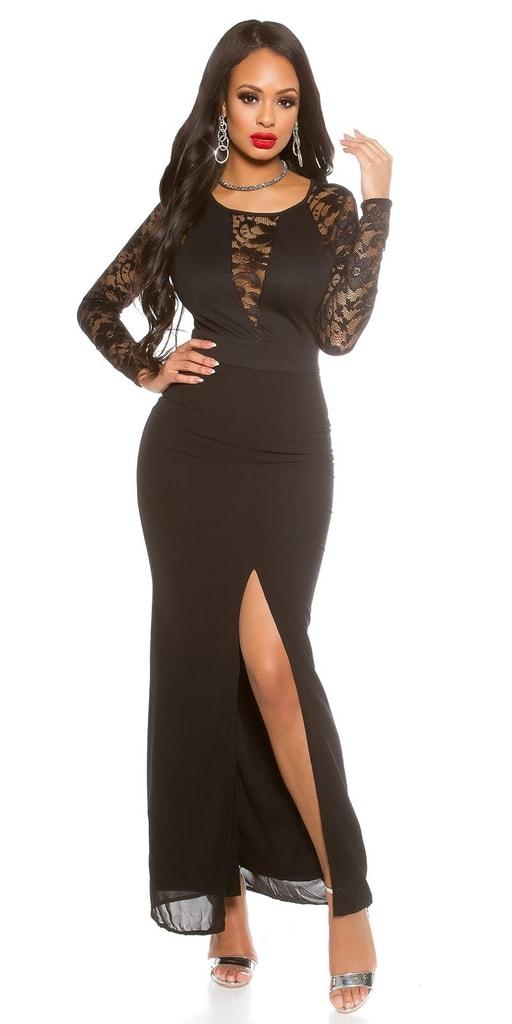 Koucla Dlouhé černé večerní šaty