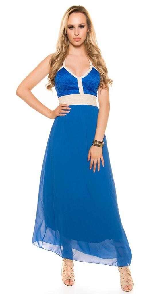Koucla Modré dlouhé šaty
