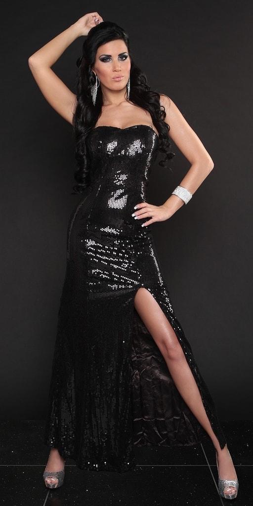 Koucla Černé šaty s flitry