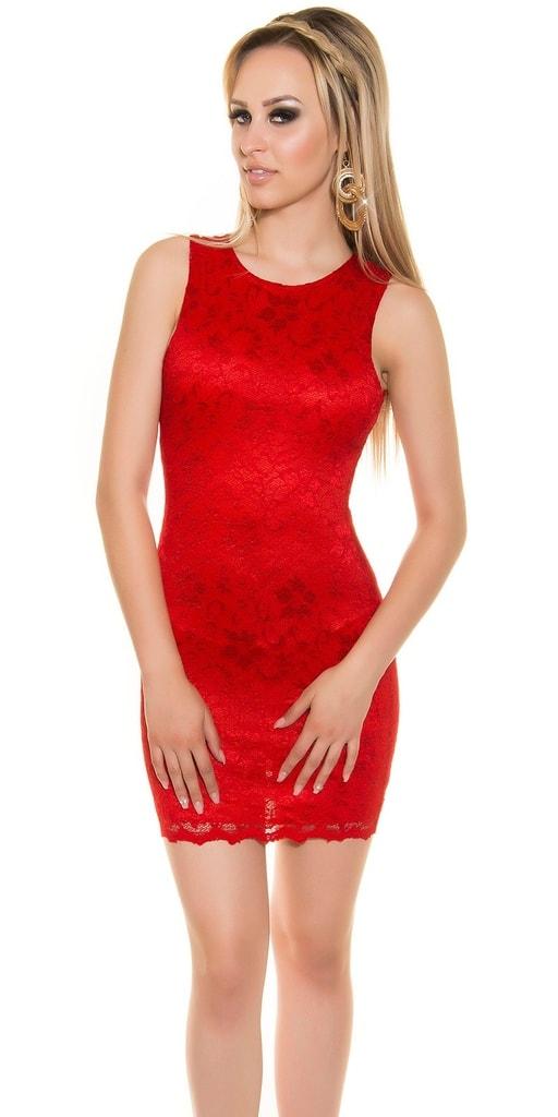 Koucla Krajkové mini šaty