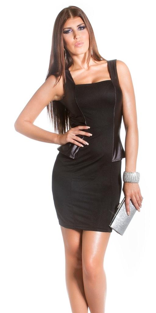 Koucla Černé elegantní šaty