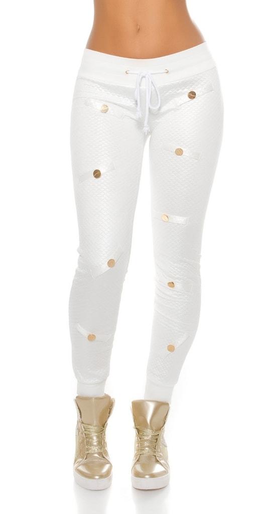 Koucla Bílé lesklé kalhoty