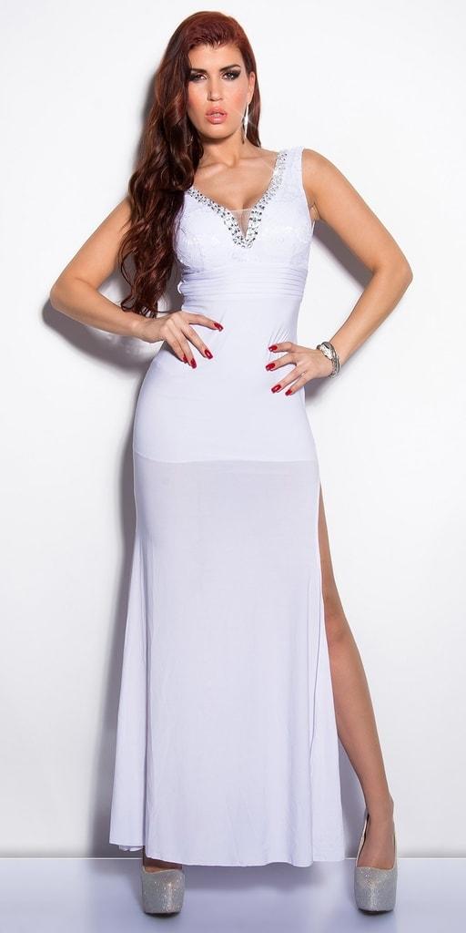 Koucla Bílé večerní šaty