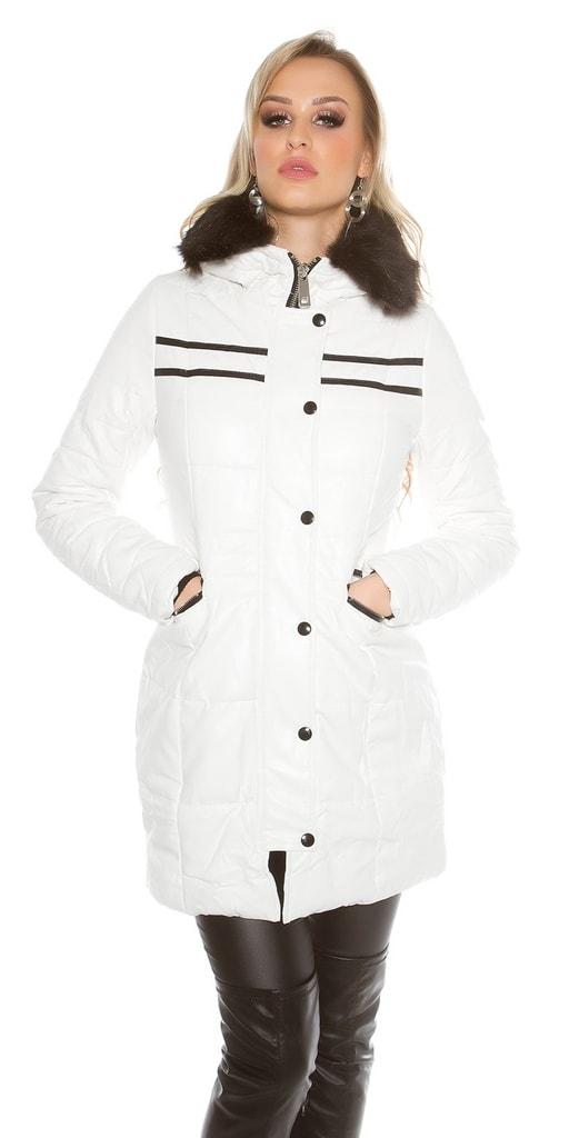 Koucla Zimní bílá bunda