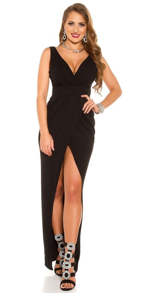 Koucla Společenské černé šaty bf8782bc4d