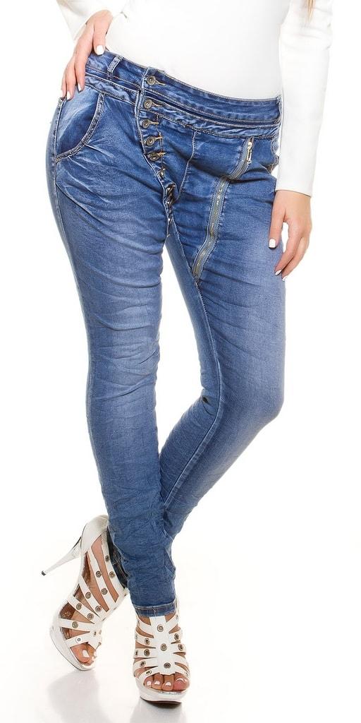 Koucla Dámské modré džíny