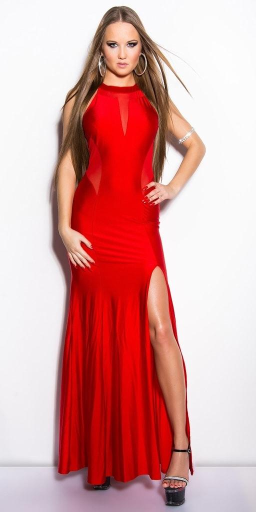 Koucla Červené dlouhé šaty