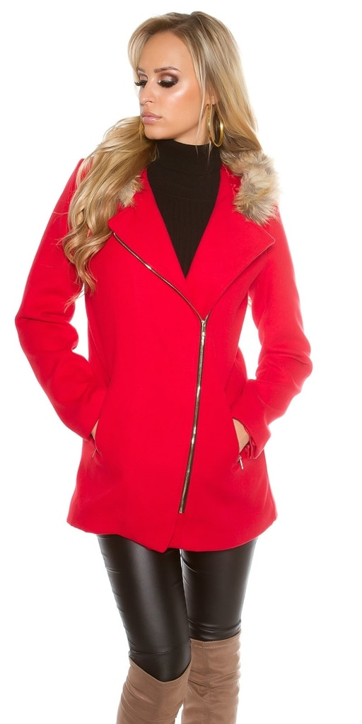 Koucla Trendy kabát s kapucí