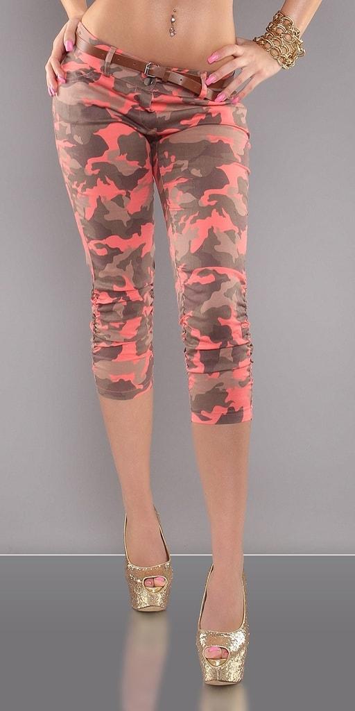 Koucla Army dámské kalhoty s páskem