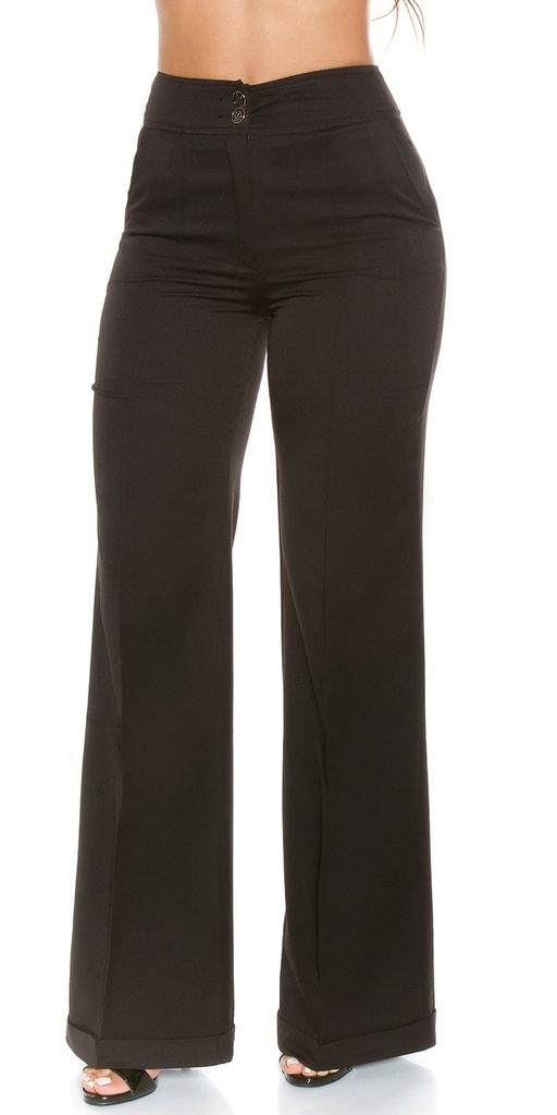 Koucla Černé dámské kalhoty