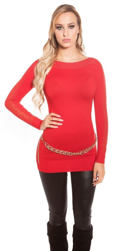 Koucla Červený svetr dámský