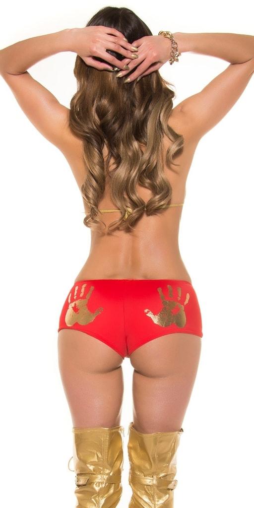 Koucla Sexy červené krátké kraťasy