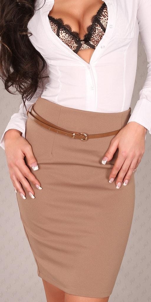 Koucla Dámská sukně s páskem