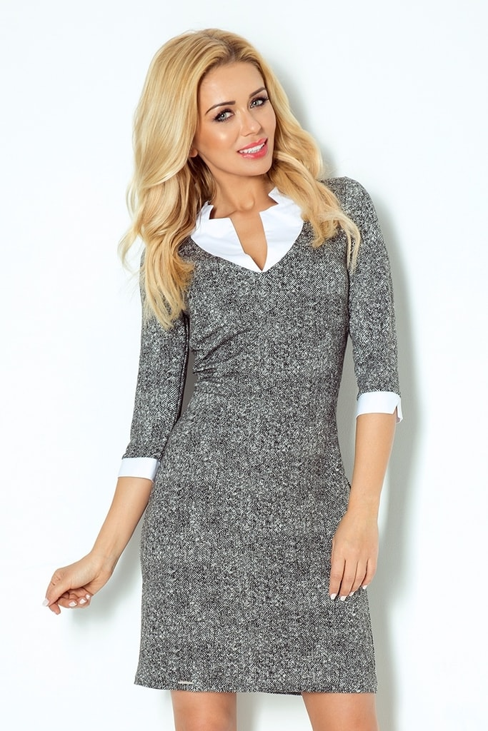 116c4aba161 Numoco Moderní dámské business šaty 110-2