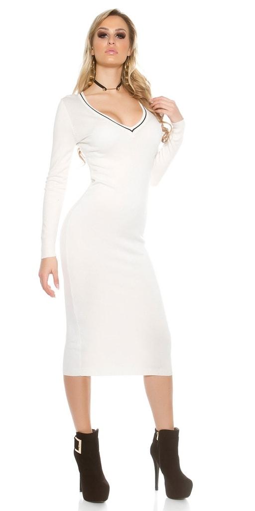 Koucla Dlouhé úpletové šaty