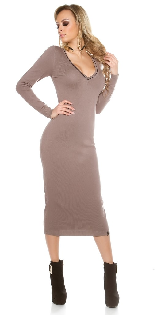 Koucla Pletené dámské šaty