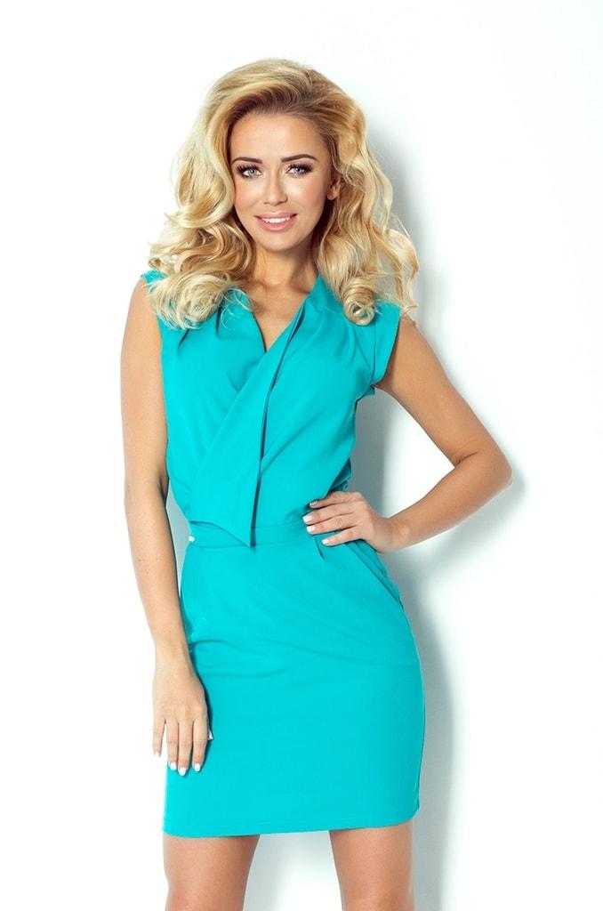 Numoco Tyrkysové moderní dámské šaty 94-5