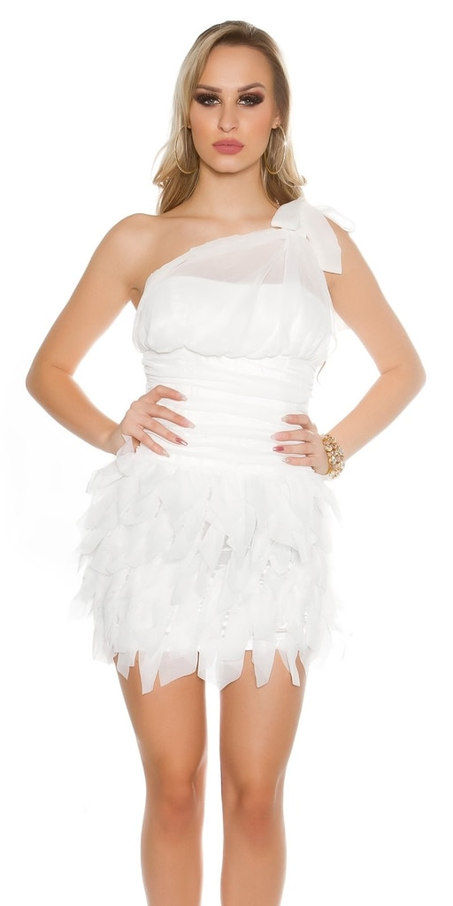 Koucla Večerní bílé dámské šaty